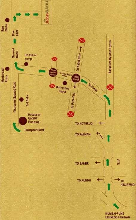 Map of Fort Jadhavgadh Heritage Resort Hotel Pune