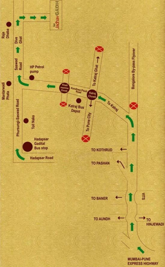 Map of Fort Jadhavgadh Heritage Resort Hotel Pune