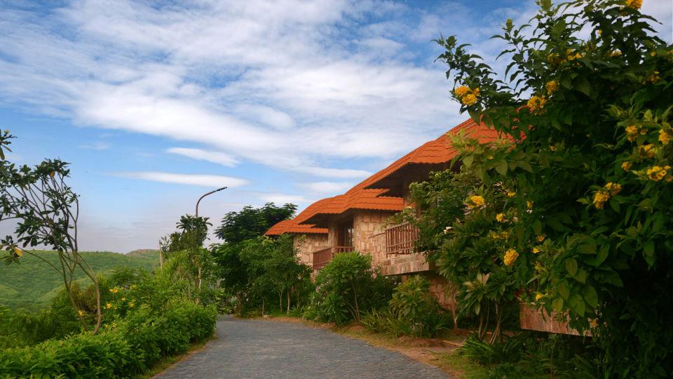 facade of Ananta Udaipur Resorts