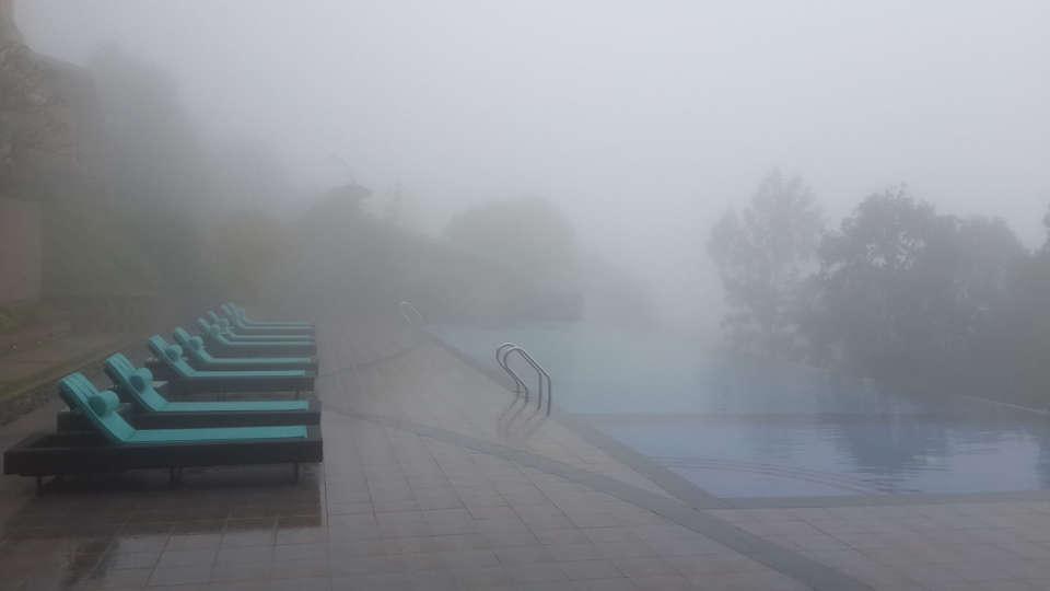 Pool at Poetree Sarovar Portico Thekkady, best hotels in thekkady 3