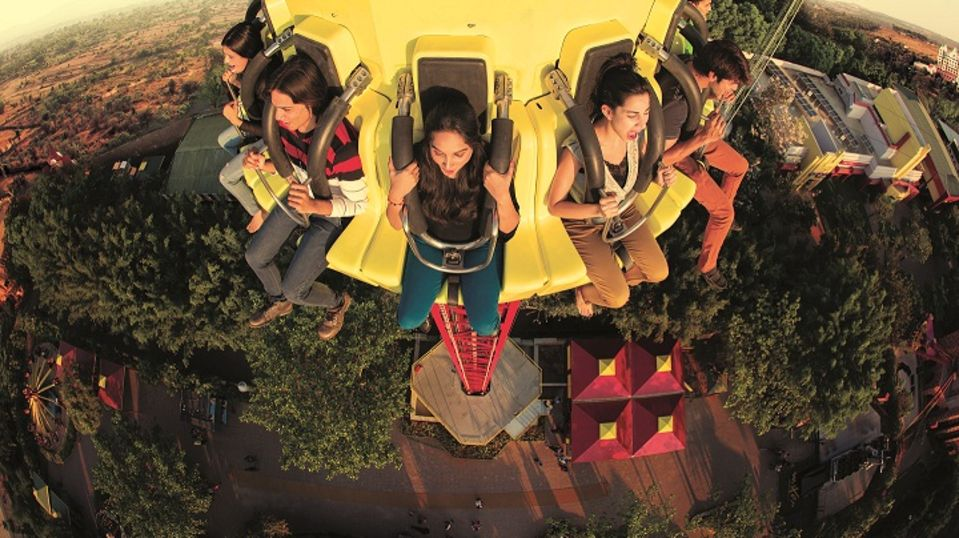 Thrillers Rides - Flashtower at  Wonderla Amusement Park Bengaluru