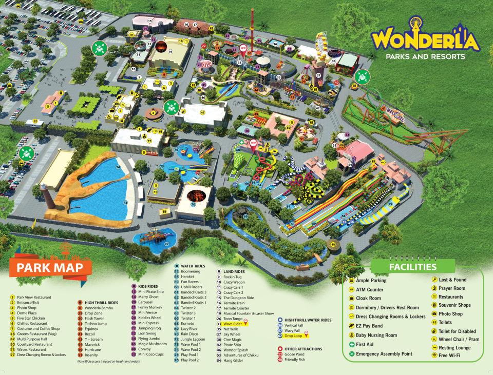Bangalore park map