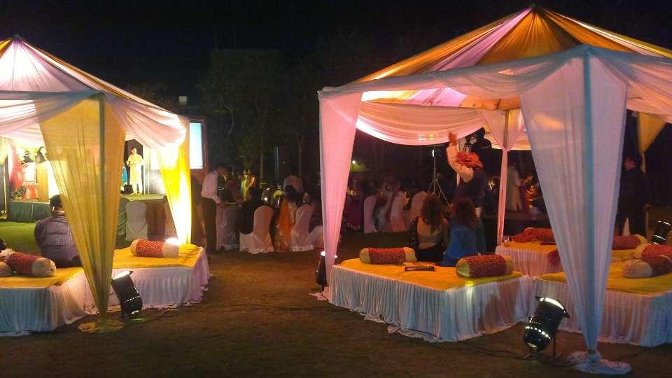 Lawn at Fort Jadhavgadh Heritage Resort Hotel Pune