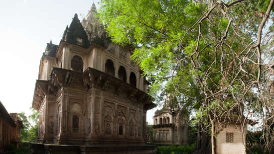 Deo Bagh - 17th C, Gwalior Gwalior Jadhav chhatris or cenotaphs within the property Deo Bagh Gwalior