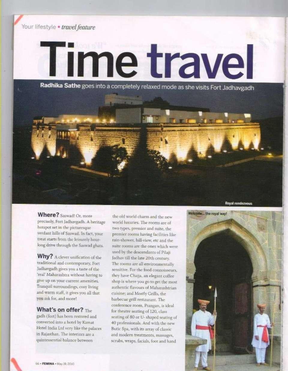 News of Fort Jadhavgadh Heritage Resort Hotel Pune
