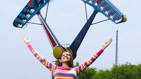 Thriller Rides - Space Gun at Wonderla Kochi Amusement Park