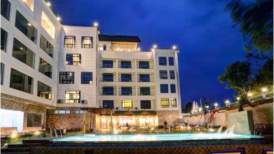 Swimming pool area at Summit Sobralia Resort Spa Namchi Sikkim Hotels