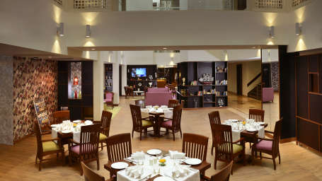 atrium lounge The Muse Sarovar Portico Kapashera New Delhi