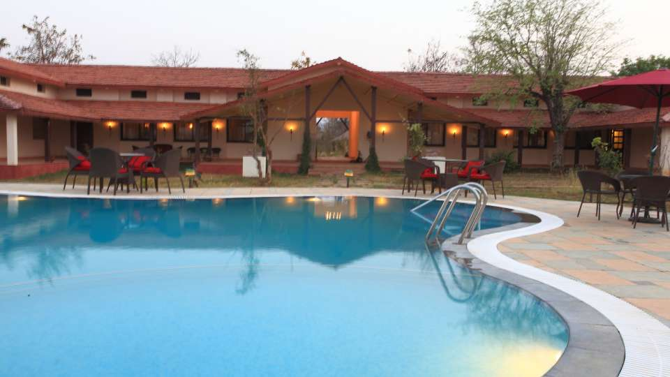 Swimming Pool at Infinity Resorts Kanha, Resort Facilities in Kanha 2