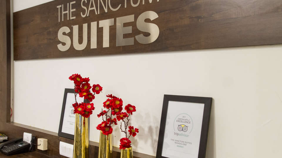 Reception and Lobby The Sanctum Suites in Whitefield 3