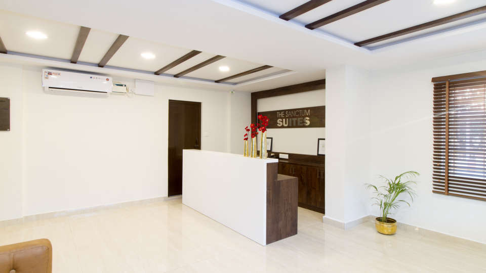 Reception and Lobby The Sanctum Suites in Whitefield 8