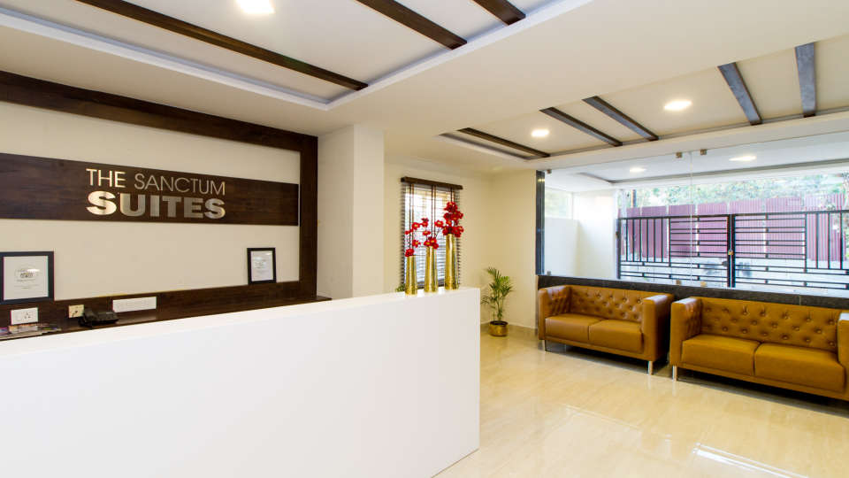 Reception and Lobby The Sanctum Suites in Whitefield 9
