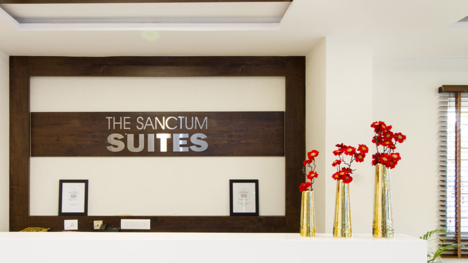 Reception and Lobby The Sanctum Suites in Whitefield 1