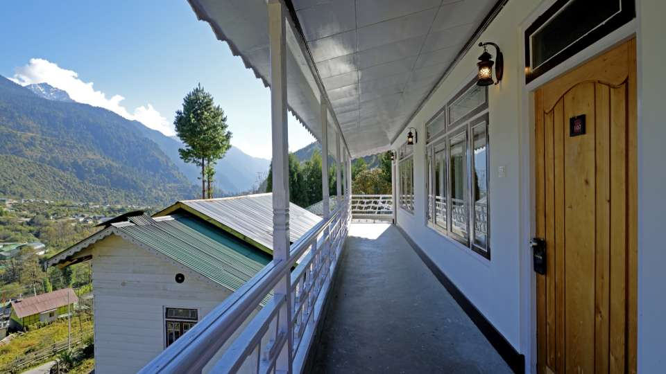View from the hotel1 at Summit Alpine Resort Lachung
