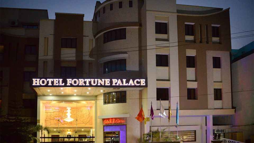 Facade of Hotel Fortune Palace, Hotel in Jamnagar, 4-Star Hotel in Jamnagar 1