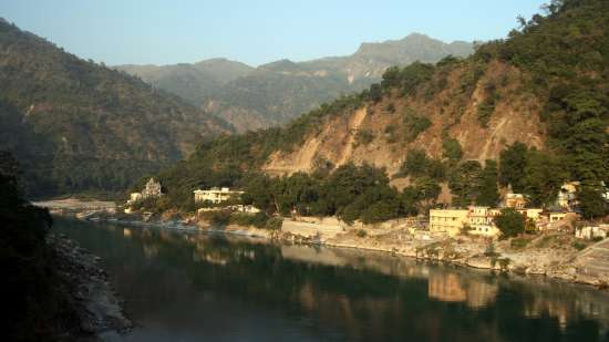 View of Ganga River near Aloha On the Ganges Rishikesh Resort and Hotel Rishikesh
