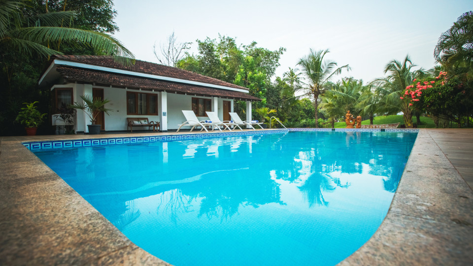 Swimming pool at Hamsa Villas Resorts Goa