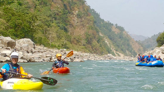 Let s play with rapids of river Kosi