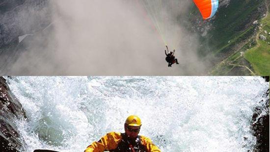 Paragliding Kayaking in Bhimtal