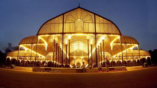 Hotel Swagath Bangalore Lalbagh Glasshouse night panorama