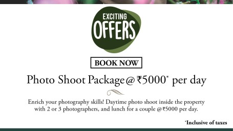 Photo Shoot Package,Amanvana Resort Spa, Luxury Resort in Coorg