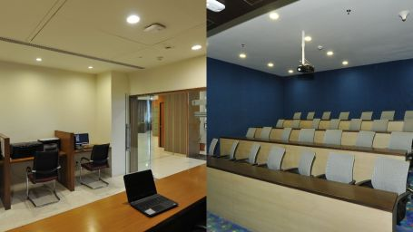 collage of meeting rooms at Narayani Heights, meeting hall in ahmedabad