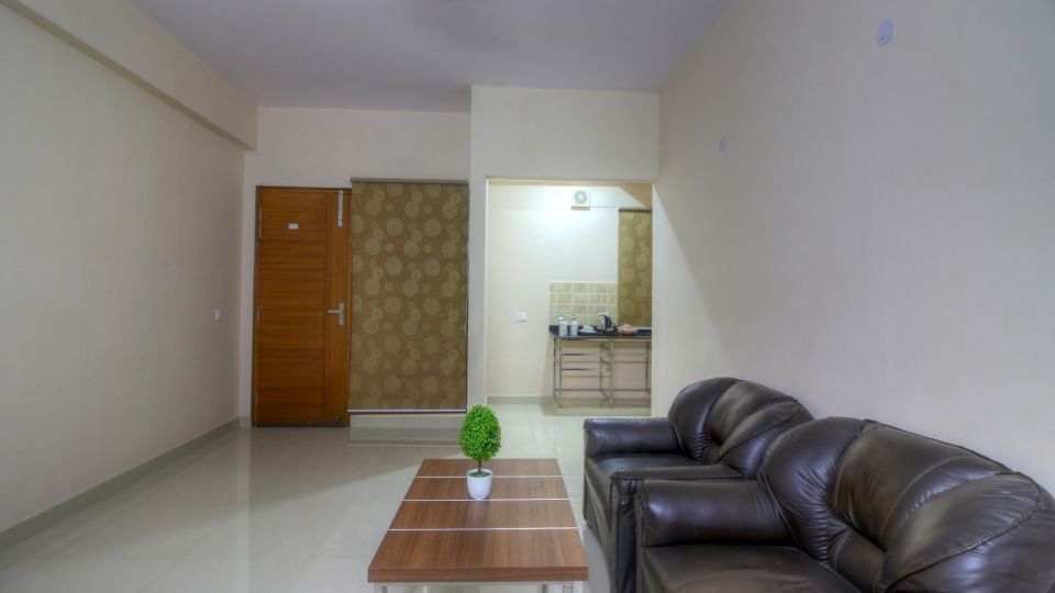 Living Room Area at our hotel near India Expo, Atithi Suites, Greater noida