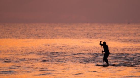 silhouette-photo-of-person-riding-a-paddle-board-during-2489475