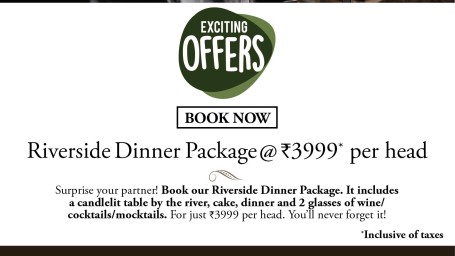 Riverside Dinner Package ,Amanvana Resort Spa, Amazing Hotel Deals In Coorg