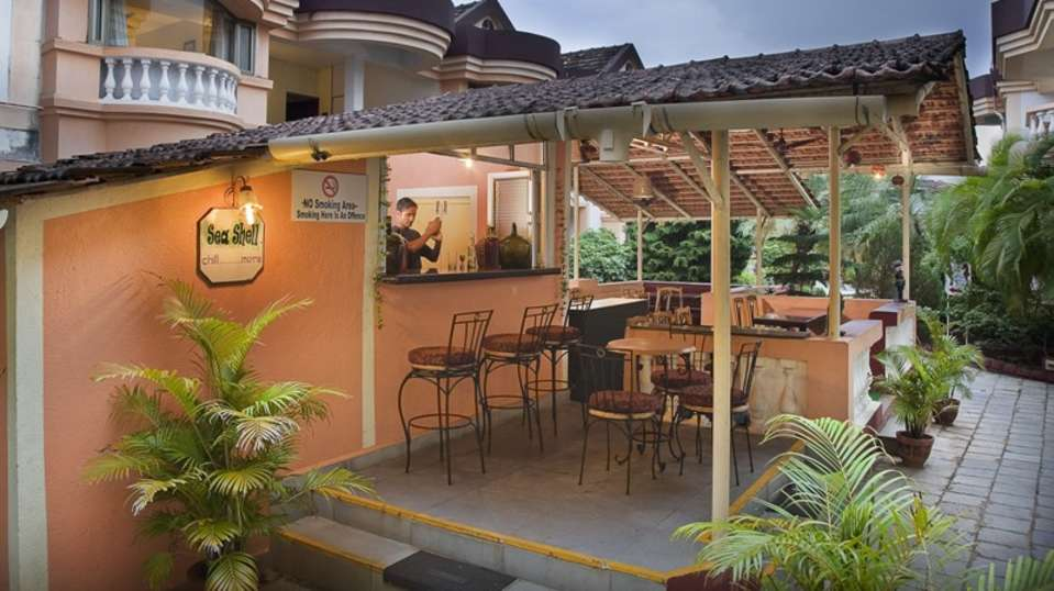 Lotus Beach Resort - Goa Goa Sea Shell Bar at Lotus Beach Resort Benaulim Goa