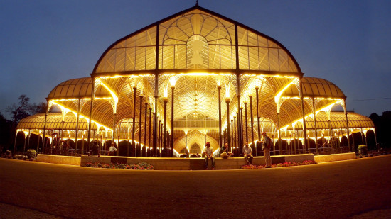 Lalbagh Glasshouse night panorama, Sarovar Hotels - India s Leading Hotel Chain,  Top hotels in India