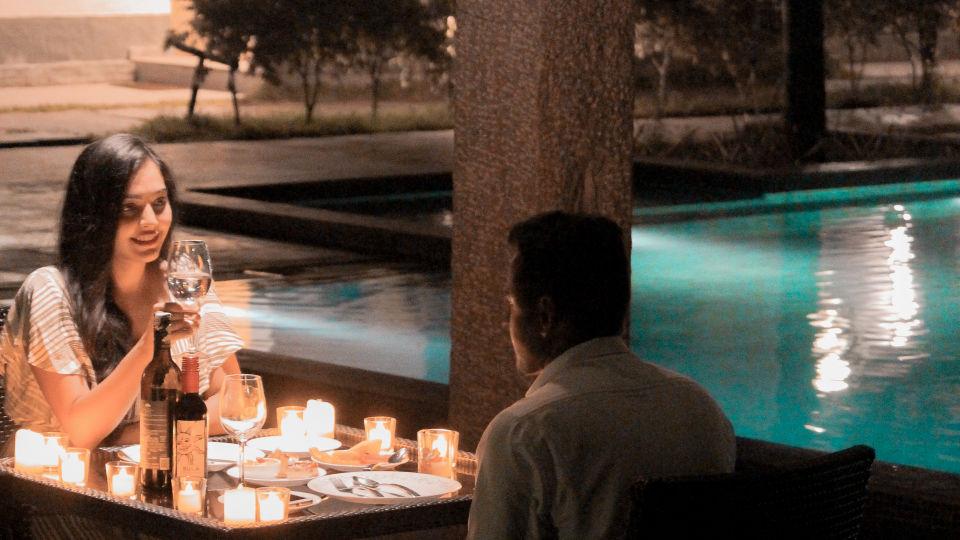 Romantic poolside 3