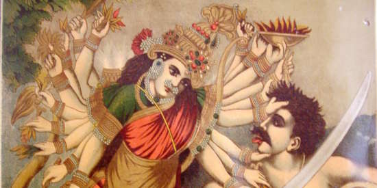 Durga Mahishasura-mardini  the slayer of the buffalo demon  Germany