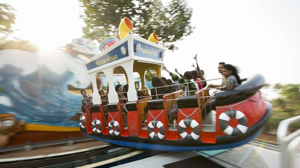Dry Rides - Rocking Tug at Wonderla Kochi Amusement Park