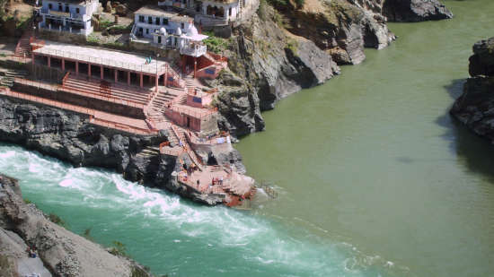 Devprayag near The Glasshouse by The Ganges in Rishikesh
