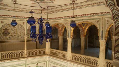 Chomu Palace Old Durbar Hall and Sheesh Mahal 2005 View 3 CIMG1790