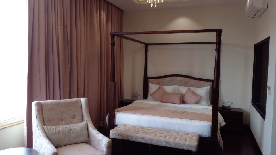 Bedroom of Orchid Suite at our Luxury  hotel in Shimla