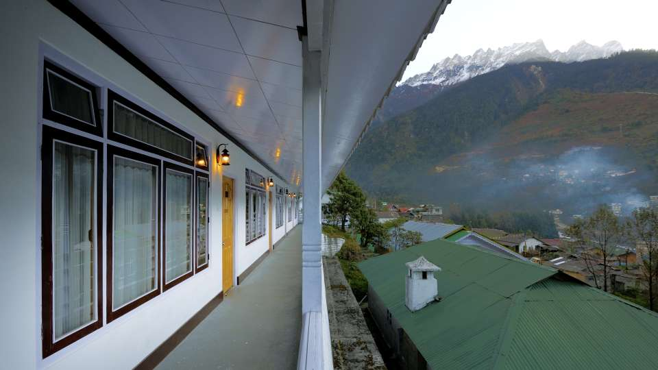 View from the hotel at Summit Alpine Resort Lachung