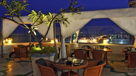 Bay of Buddha over looks the Pondicherry promenade