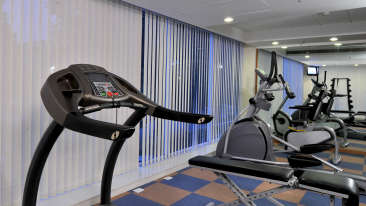 Gymnasium at Hometel Chandigarh, business hotels in chandigarh