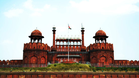 Red fort front view 1
