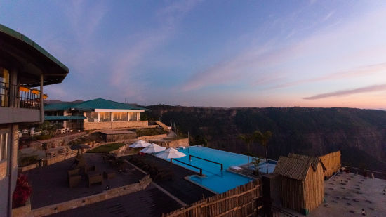 Infinity Pool at Polo Orchid Resorts, Cherrapunje, Best places to stay in Cherrapunji