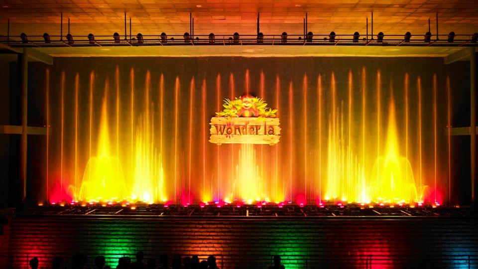 Dry Rides - Musical Fountain at  wonderla Amusement Park Bangalore