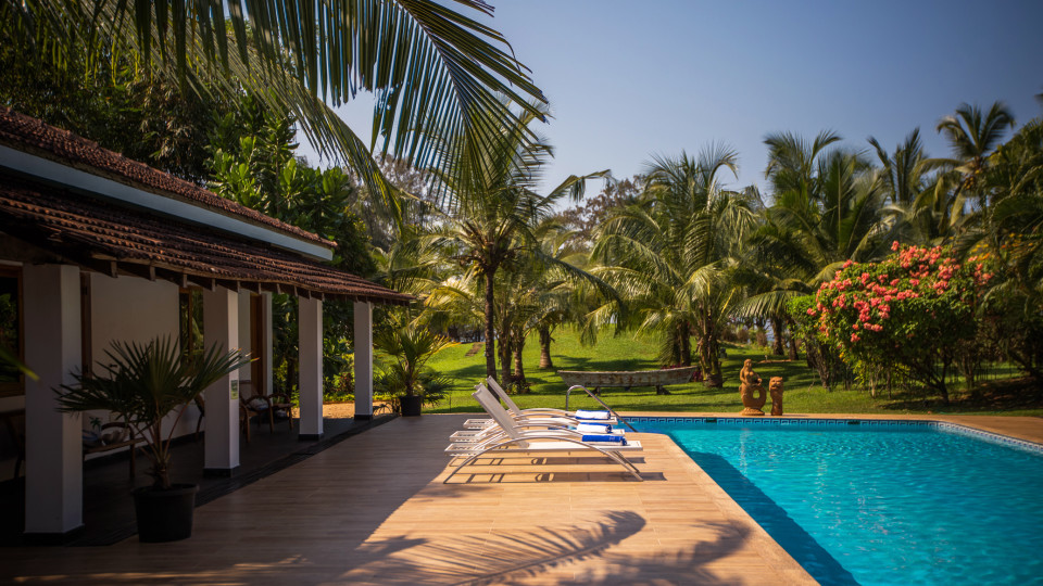 Clear Swimming Pool, Hamsa Villas Goa, Best Resort In Goa