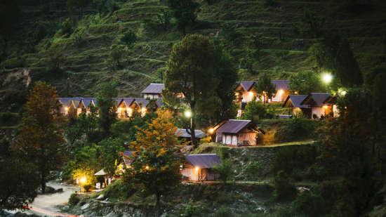 Yamunotri, Gangotri, Kedarnath & Badrinath uttarakhand Barkot campsite view