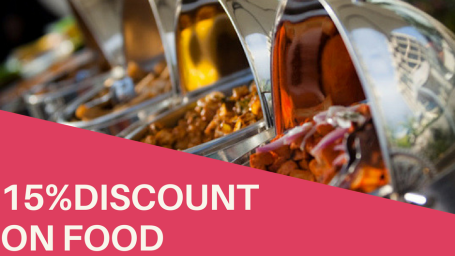 get discount on food 1