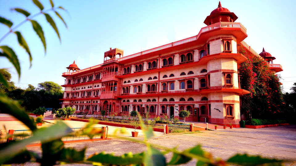 Exterior View of Umaid Lake Palace Hotel Kalakho Dausa Rajasthan