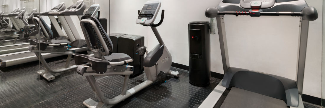 A well-equipped exercise room at Night Hotel Broadway