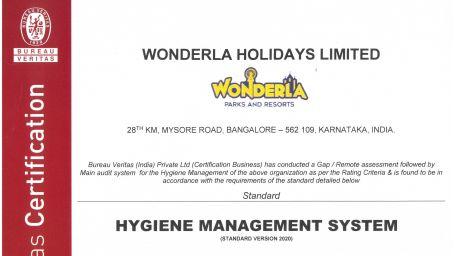 WONDERLA HOLIDAYS LIMITED COV-Safe Blr