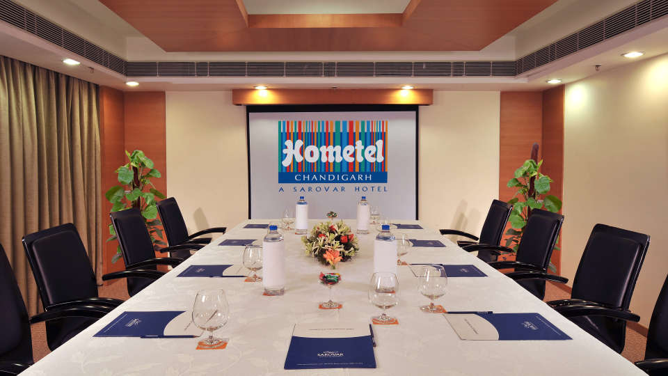 Board Room at Hometel Chandigarh,banquet halls in chandigarh